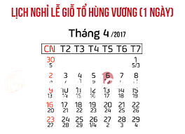 lich nghi le gio to hung vuong 2017